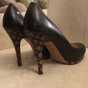 """497d40d3c16d Coach Shoes - Sale Coach 4"""" Platform Signature Pumps Black EUC 8"""